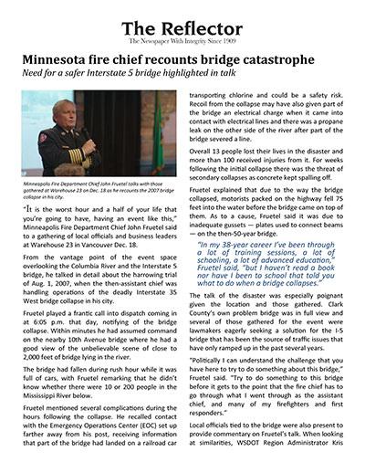 Minnesota fire chief recounts bridge catastrophe