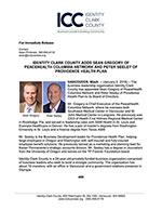 Identity Clark County Adds Sean Gregory of Peacehealth Columbia Network and Peter Seeley of Providence Health Plan