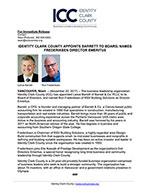 Identity Clark County Appoints Barrett to Board, Names Frederiksen Director Emeritus