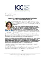 Identity Clark County Names Maren Calvert to Ed Lynch Honorary Board Seat